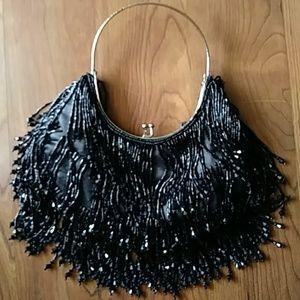 Handbags - Beaded Fringe Evening/Prom Purse 8x4